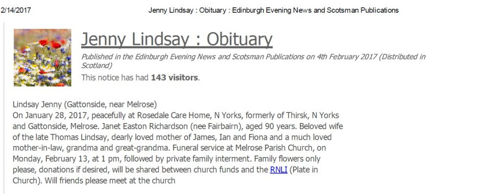 Scotsman Obituary